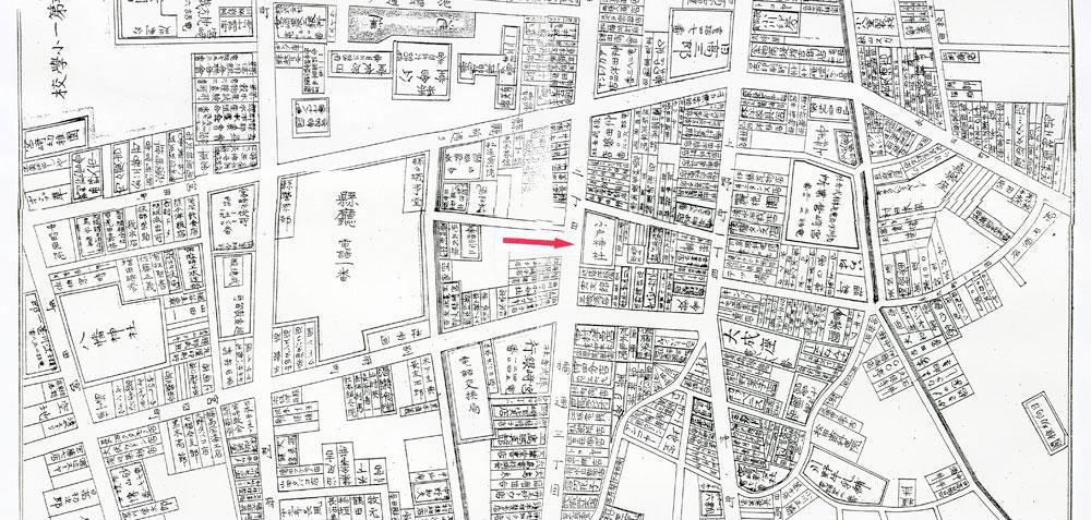 昭和5年頃の小戸神社周辺地図